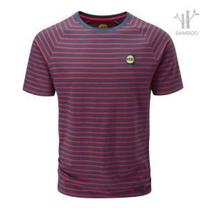 Men's Striped Bamboo Tech T-Shirt
