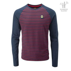 Men's Striped Bamboo Tech Long Sleeve