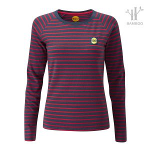 Women's Striped Bamboo Tech Top