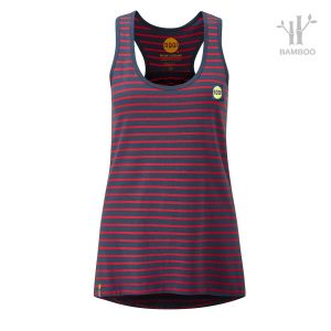 Women's Striped Bamboo Tech Vest