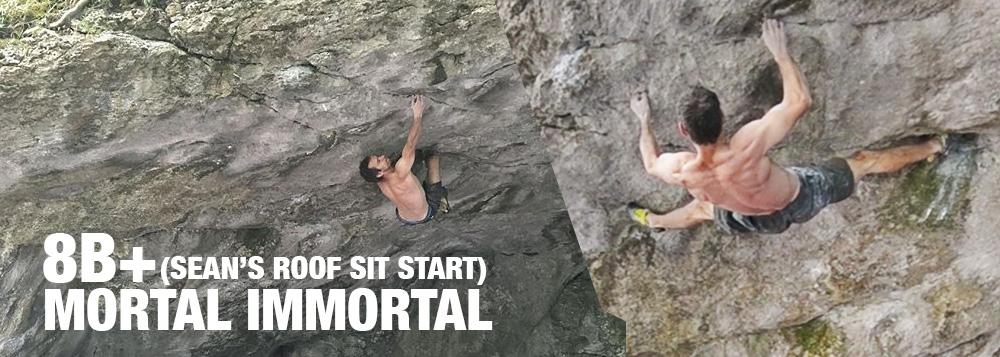 David Mason climbs Mortal Immortal (8B+)