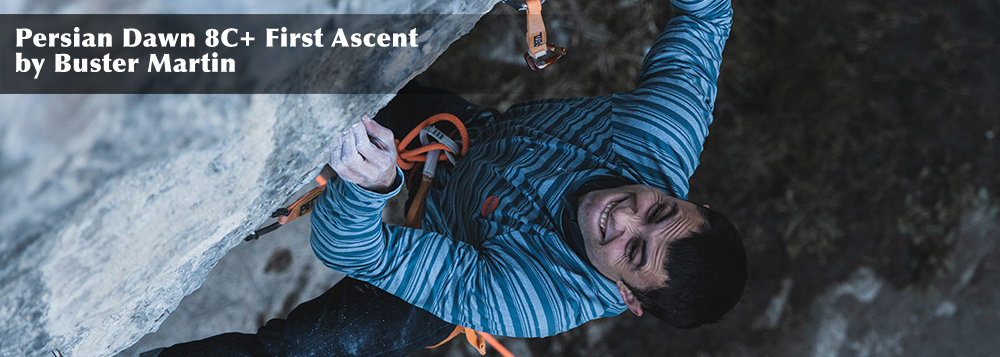 Persian Dawn 8C+ First Ascent by Buster Martin
